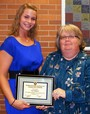 2012 Morrisville-Yardley Area Rotary Club Community Service Scholarship to Casey Hollopeter. Presented by Linda Yonkin.